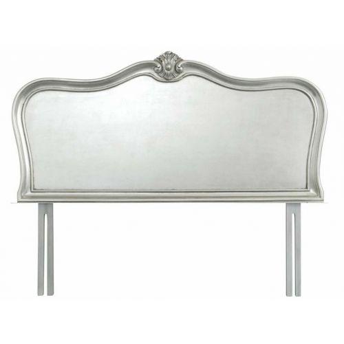 Louis French Silver Leaf 5' King Size Headboard