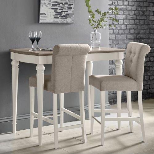 Montreux Grey Washed Oak & Soft Grey Painted Bar Table - Montreux Furniture