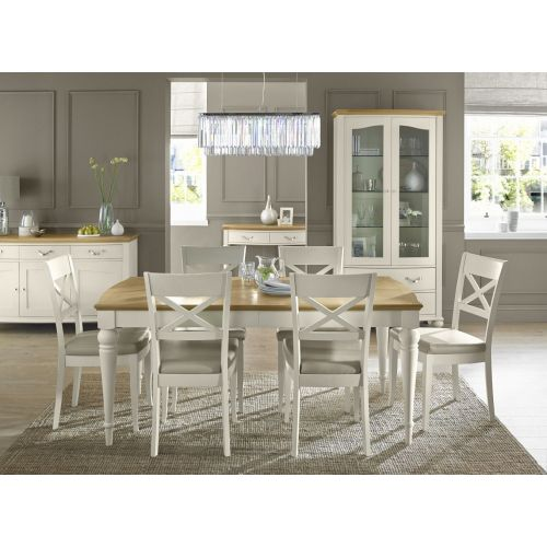 Montreux Oak & Antique White Painted Large Extending Dining Table - Montreux Furniture