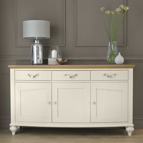 Montreux Oak & Antique White Painted Large Sideboard - Montreux Furniture