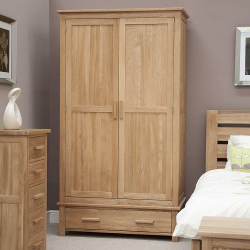 Opus Solid Oak 2 Door Gents Double Wardrobe