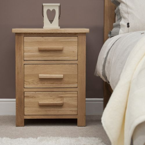 Opus Solid Oak 3 Drawer Bedside Chest