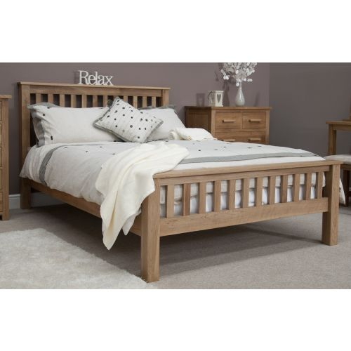 "Opus Solid Oak 4' 6"" Double Bed"