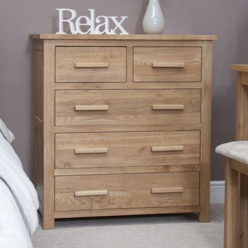 Opus Solid Oak 5 Drawer Chest