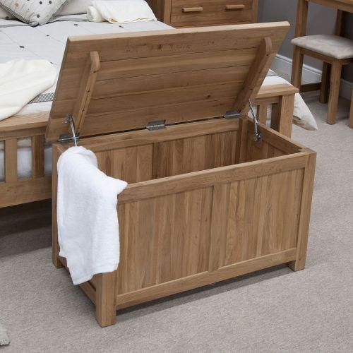 Opus Solid Oak Blanket/Storage Box