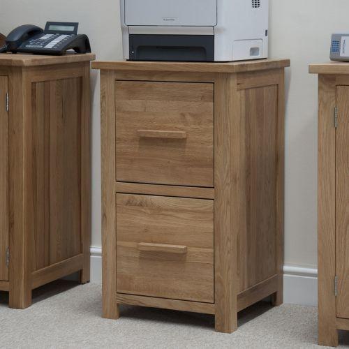Opus Solid Oak Filing Cabinet