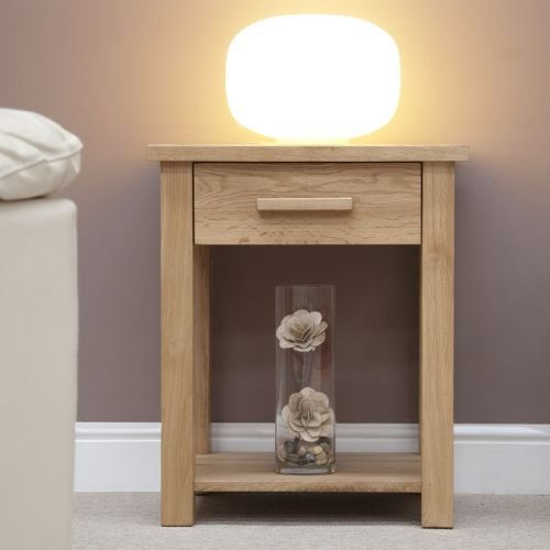 Opus Solid Oak Lamp/Sofa Table