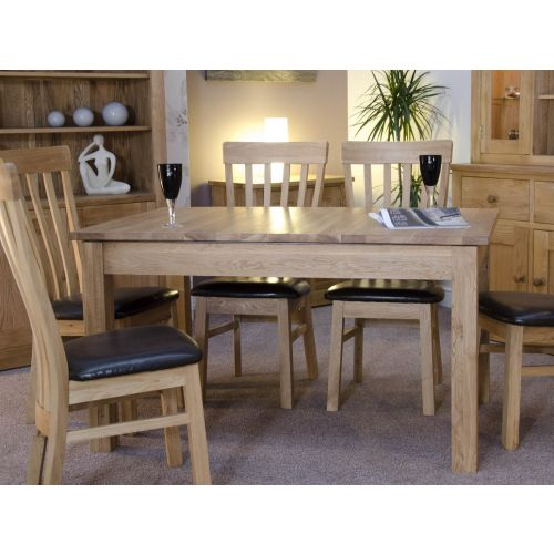 Opus Solid Oak large Extending Dining Table - Opus Oak Furniture