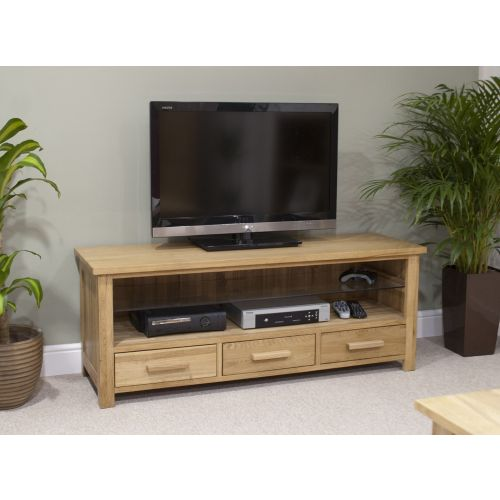 Opus Solid Oak Plasma TV Unit