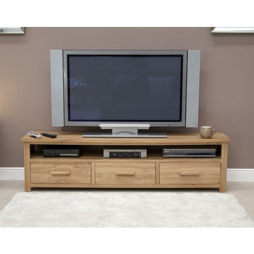 Opus Solid Oak Wide Plasma TV Unit