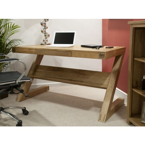 Opus Solid Oak Z Shape Computer Desk