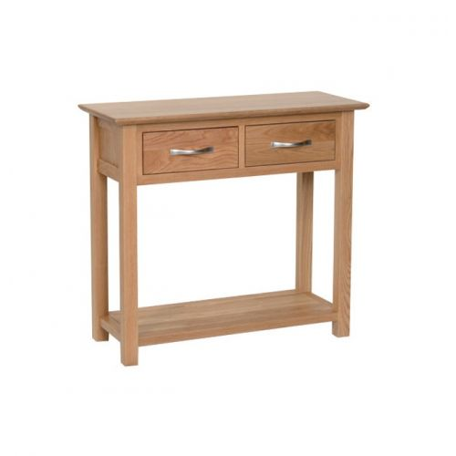 Oxford Contemporary Oak 2 Drawer Console Table