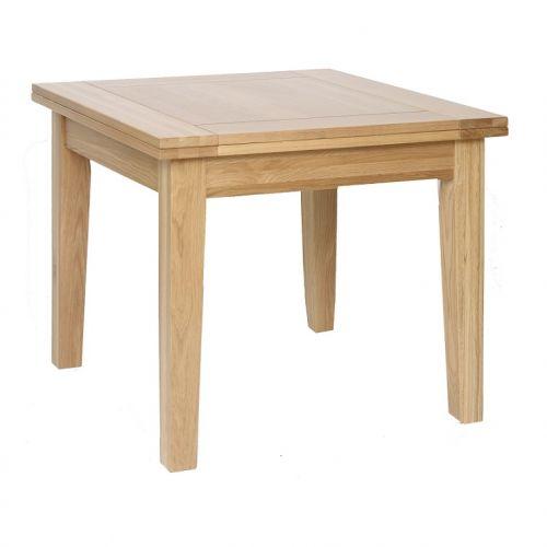 Oxford Contemporary Oak 3'x3' Flip Top Extending Dining Table