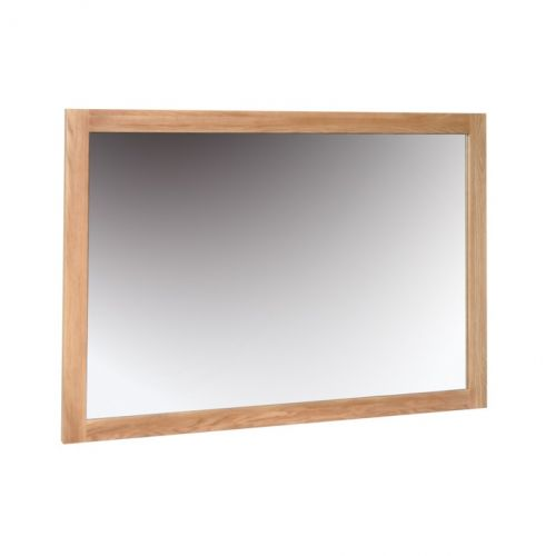 Oxford Contemporary Oak Wall Mirror 130x90cm