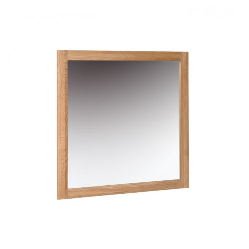 Oxford Contemporary Oak Wall Mirror 90x90cm