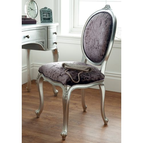 Régency French mid-18th Century Silver Leaf Dressing Table Chair