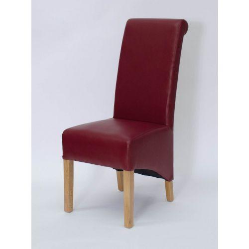 Richmond Ruby Matt Leather Dining Chair