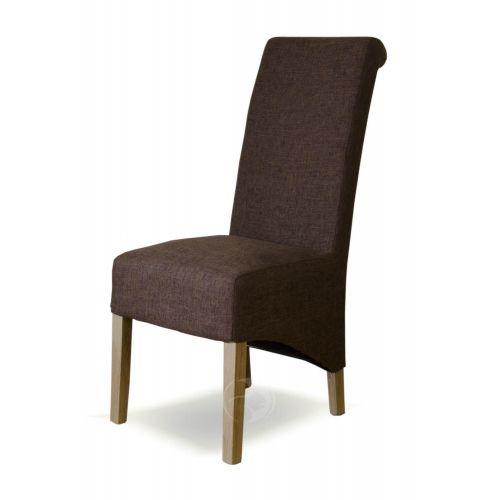 Richmond Tweed Fabric Brown Dining Chair