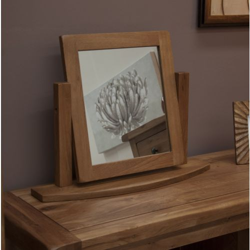 Rustic Solid Oak Dressing Table Mirror