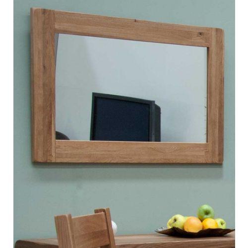 Rustic Solid Oak Wall Mirror