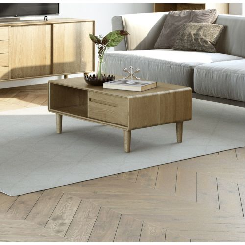Scandic Oak Coffee Table - Retro Style