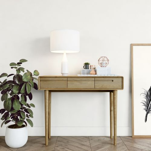 Scandic Oak Console Table - Retro Style