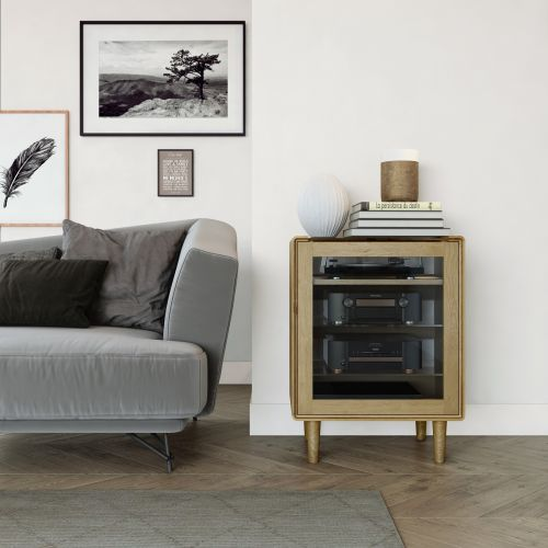 Scandic Oak HIFI Unit - Retro Style
