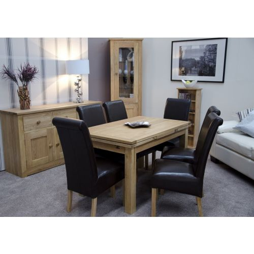 Solid Oak Medium Draw Leaf Extending Dining Table