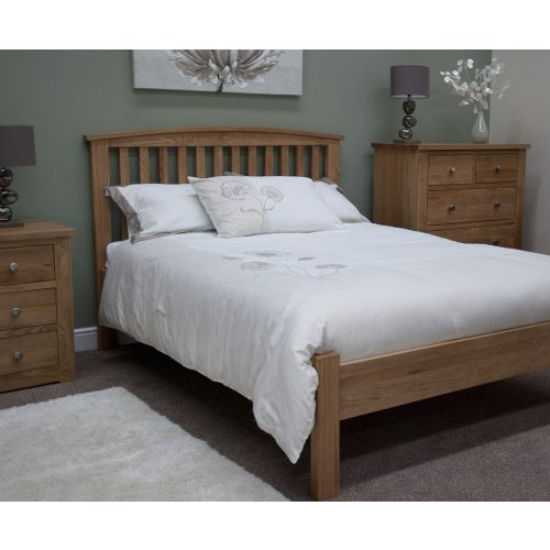 Torino Solid Oak 3' Single Bed