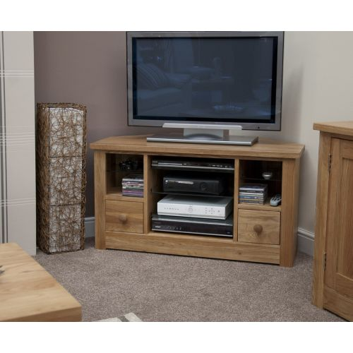 Torino Solid Oak Corner TV Unit