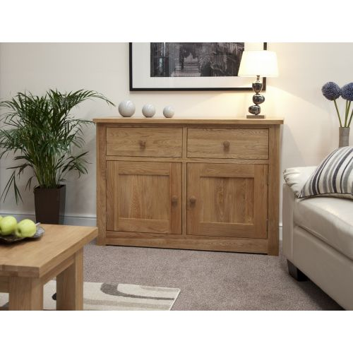 Torino Solid Oak Small 2 Door Sideboard
