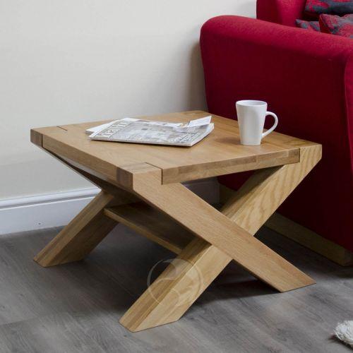 Trend Solid Oak 2x2 X Leg Coffee Table