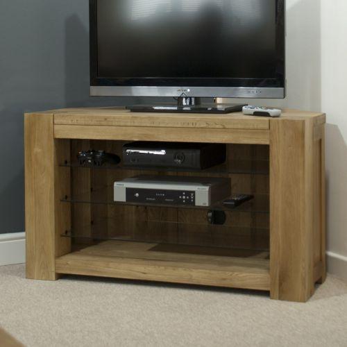 Trend Solid Oak Corner TV Unit