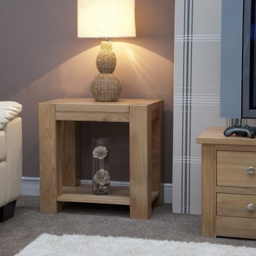 Trend Solid Oak Lamp/Sofa Table