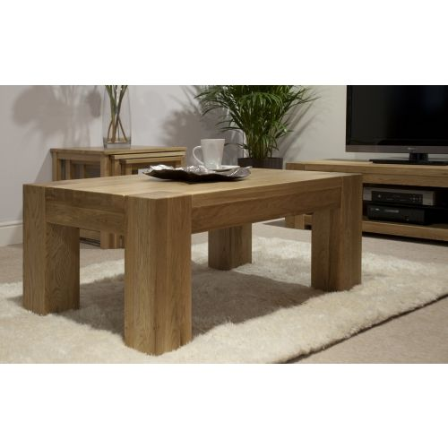Trend Solid Oak Large Coffee Table