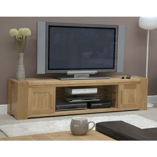 Trend Solid Oak Large Plasma TV Unit