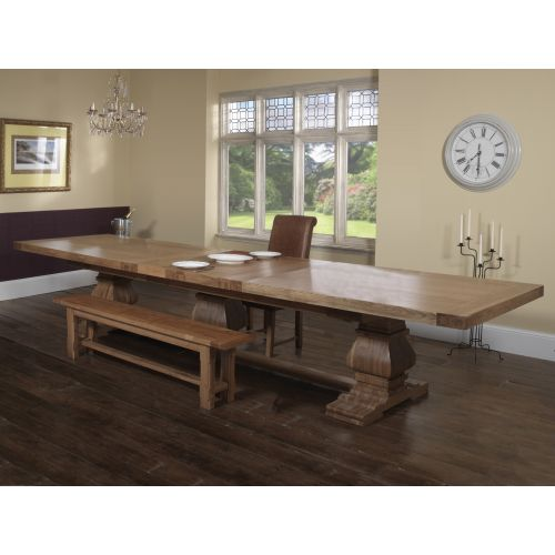 Windermere Rustic Solid Oak Grand Ark Royal Monastery Dining Table