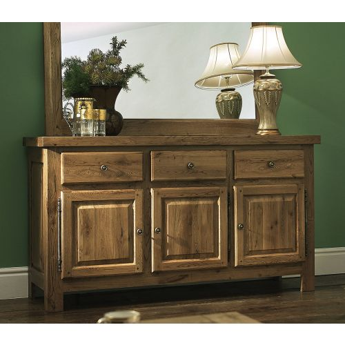 Windermere Solid Oak Large 3 Door Sideboard