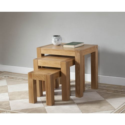 Aylesbury Contemporary Light Oak Nest of Tables