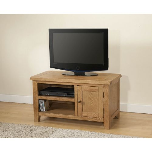 Cotswold Rustic Light Oak Small TV Unit