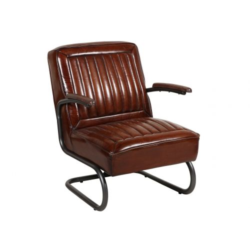 Pullman Brown Leather Armchair