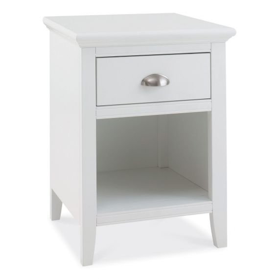 Hampstead White 1 Drawer Bedside Table