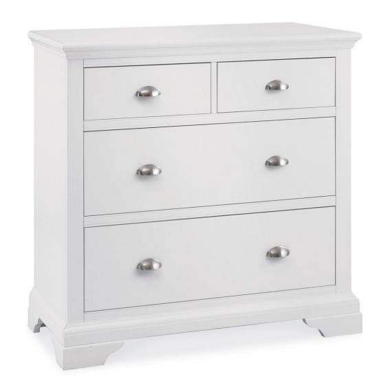 Hampstead White 4 Drawer Chest