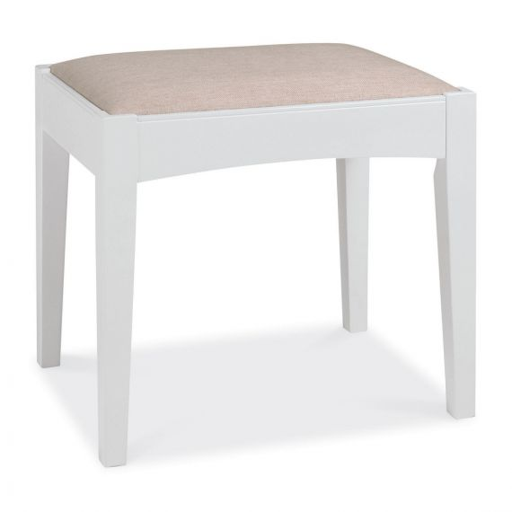 Hampstead White Dressing Table Stool