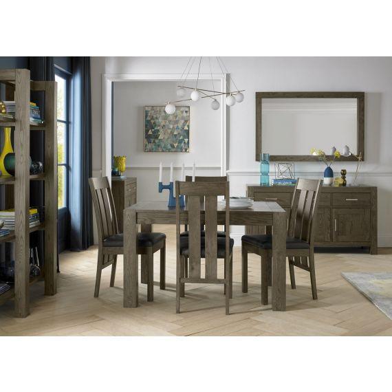 Turin Dark Oak Small Extending Dining Table