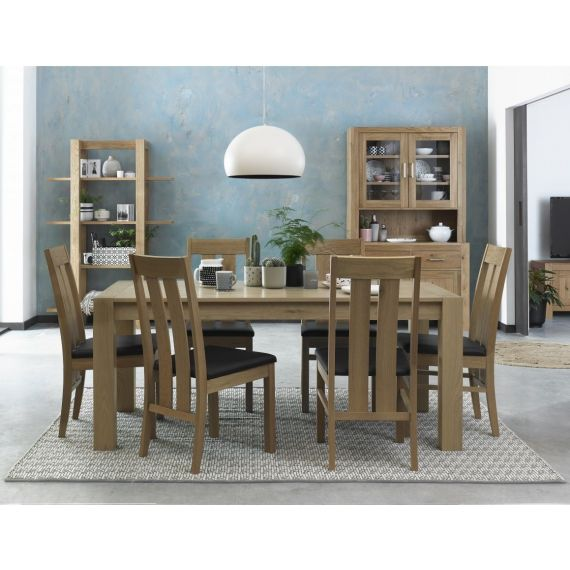 Turin Light Oak Extending Dining Table
