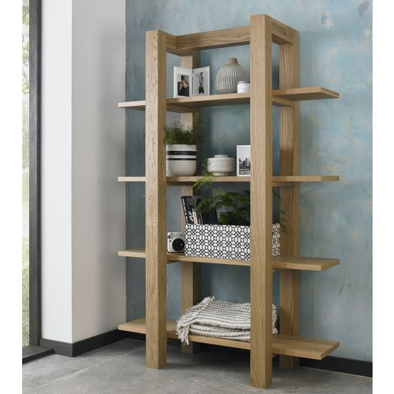 Turin Light Oak Open Shelf Unit