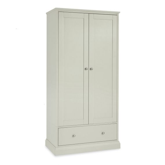 Ashby Cotton Painted Double Wardrobe with Drawer - Ashby Bedroom Furniture