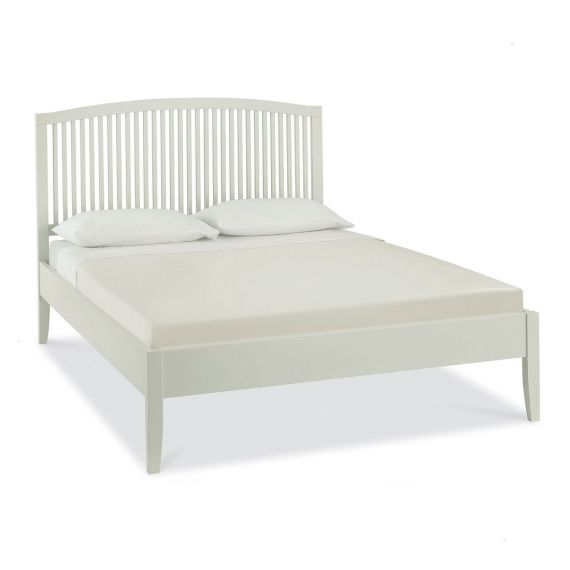 Ashby Cotton Painted Slatted Small Double Bed - Ashby Bedroom Furniture