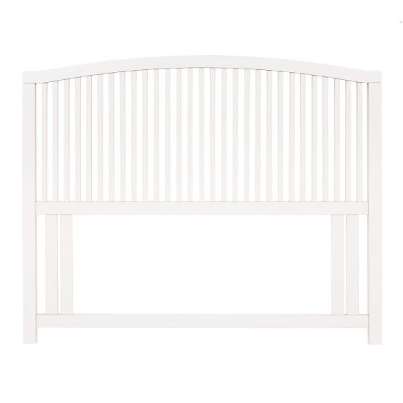 Ashby White Painted Slatted Double Headboard - Ashby Bedroom Furniture